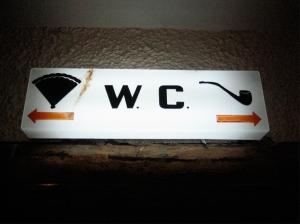 W.C. signage - found on Flickr