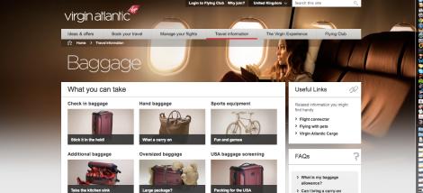 Virgin Atlantic site